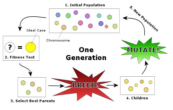چرخه ی الگوریتم ژنتیک