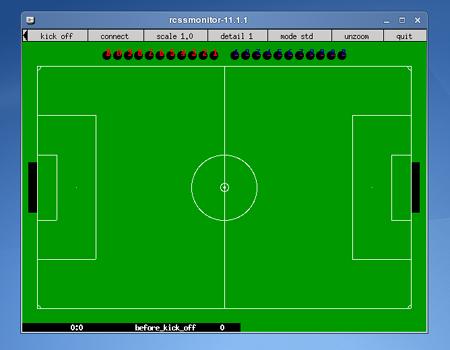 محیط شبیه سازی فوتبال قبل از وصل شدن کلاینت ها