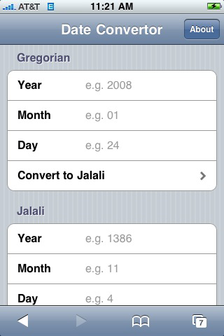 The first Iranian web application for iPhone